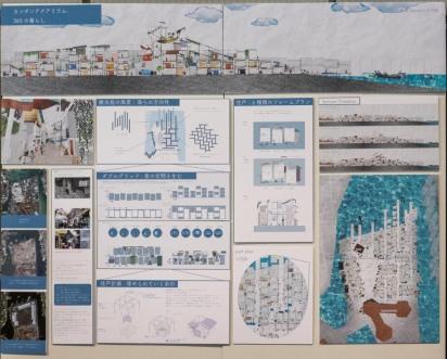 失われた街を復活させ、さらに拡張する可能性を模索した案。(グリッド型) A plan that revives the lost city and explores the possibility of further expansion. (Grid type)